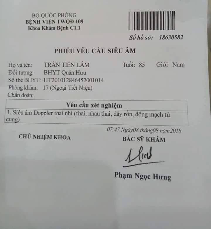 Benh vien 108 len tieng ve thong tin 'cu ong duoc sieu am thai nhi' - 1